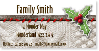 Address Labels to personalise your post, Cuddly