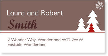 Address Labels to personalise your post, The first snow