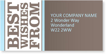 Address Labels to personalise your post, Blue Sky