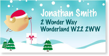Address Labels to personalise your post, Sweet Snow Post