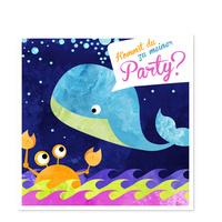Der kleine Wal feiert eine Party