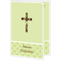Kreuz mit grünen Pünktchen