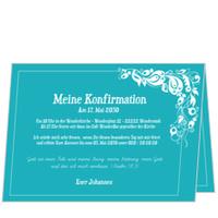 Einladung in Himmelblau