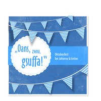 Oktoberfest Gsuffa in Blau
