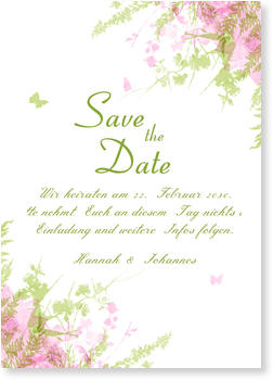 Save the Date Karten, Save The Date Schmetterling