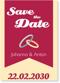 Save the Date Karten, Trauringe