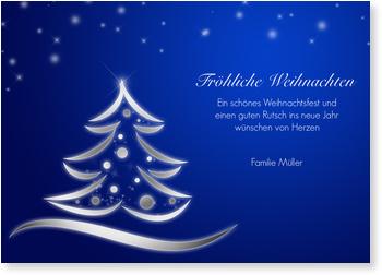 Weihnachtsgrüße Klassisch.Blauer Weihnachtstraum Klassische Weihnachtskarten Traditionelle