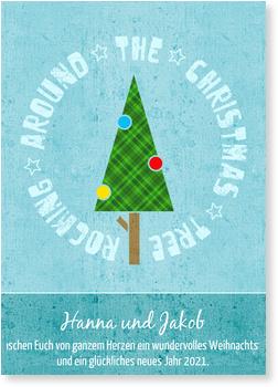 Moderne Weihnachtsgrüße Für Karten.Rocking Tree Moderne Weihnachtskarten Zeitgenössische