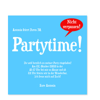 Partytime in Meerblau