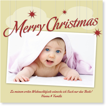 weihnachtshimmel in gold weihnachtskarten baby. Black Bedroom Furniture Sets. Home Design Ideas