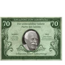 Dollarschein in Grün
