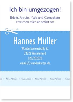 Neues Heim Visitenkarte Blau Umzugskarten Selbst Gestalten