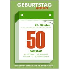 Abreißkalender in Grün