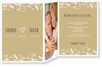 Einladungskarten Zum Hochzeitstag, Blumenranke