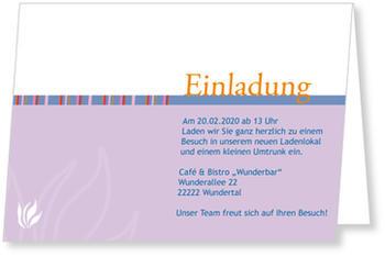 Einladungskarten Geschäftlich, Einladung   Lila