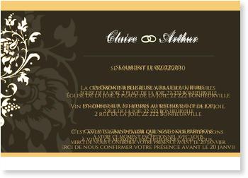 Carte D Invitation De Mariage A Personnaliser Bonnyprints Fr
