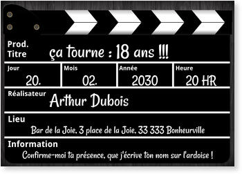 Carte Invitation Anniversaire 18 Ans Bonnyprints Fr