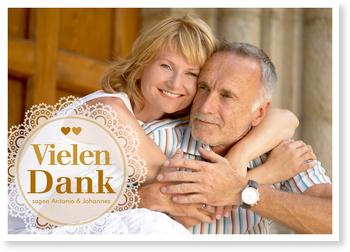 Dankeskarten Goldenen Hochzeit, Treue Liebe