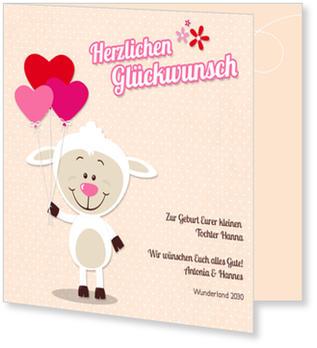 Toll Grußkarten Geburt Online Bestellen, Kleines Schaf