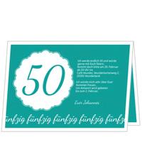 Elegante Einladung zum Fünfzigsten