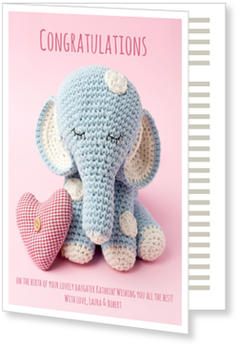 Baby Greeting Cards - say hello to the newborn baby, Tiny Elephant