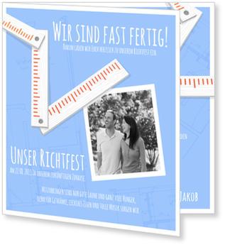 einladung richtfest | gratis musterkarten und versand, Einladung
