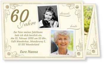 Einladungskarten 60 Geburtstag Lieferzeit 1 2 Werktage