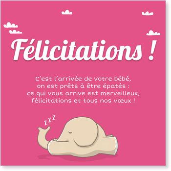 Carte f licitation naissance - Texte felicitation mariage original ...