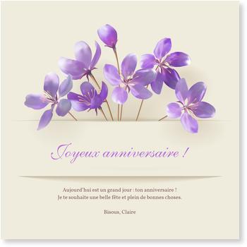 Carte Félicitation Anniversaire Personnalisée Bonnyprintsfr
