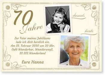 Einladungskarten 70 Geburtstag Lieferzeit 1 2 Werktage