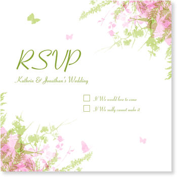 Wedding RSVP Cards, Butterflies