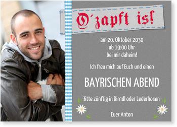 Schön Einladungskarten Oktoberfest, Ou0027 Zapft ...