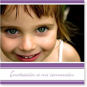 Invitaciones de comunión, Rayas