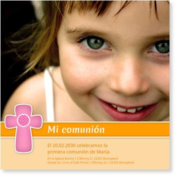 Invitaciones de comunión, Pequeña cruz