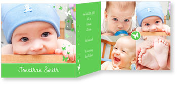 Baby Photo Cards – a fab presentation of your little one, Baby Butterflies
