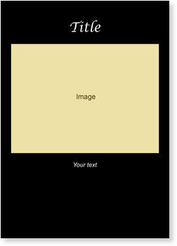 Blank Cards for your images, Blank 2 - Black