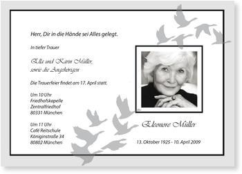 einladung trauerfeier | gratis musterkarten und versand, Einladungen
