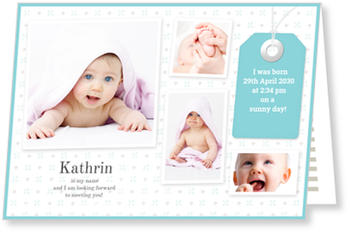 Baby Photo Cards – a fab presentation of your little one, This is me - Turquoise