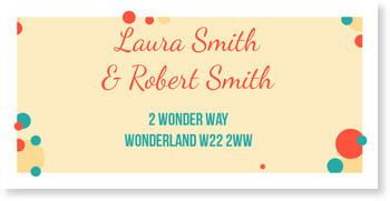 Address Labels to personalise your post, Sprinkles