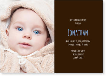 Photo Birth Announcements for Boys – share the news, Happiness Blue for Boys