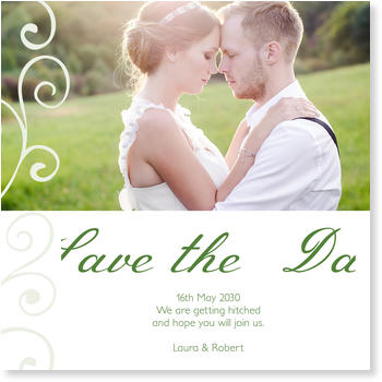Save the Date Cards for your Wedding Day, Delicate Decoration