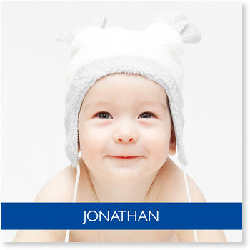 Photo Birth Announcements for Boys – share the news, Baby Portrait
