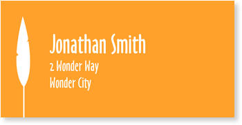 Address Labels to personalise your post, Orange Leaf