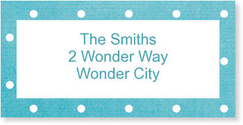 Address Labels to personalise your post, Polka Dots