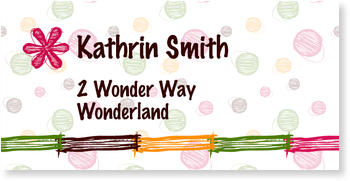Address Labels to personalise your post, Colourful Stripes