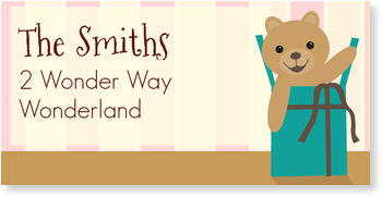 Address Labels to personalise your post, Teddy