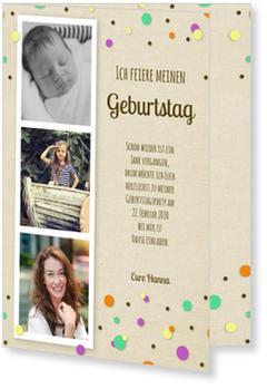 Einladungskarten 18. Geburtstag   Lieferzeit 1-2 Werktage