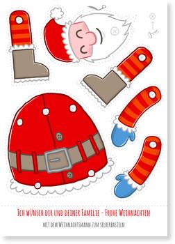 Weihnachtsmann Zum Basteln Aktuelle Weihnachtskarten