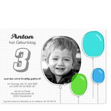 Bunte Luftballons für Jungen