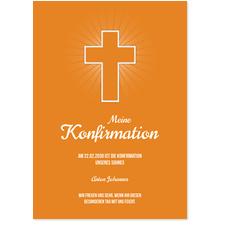 Einfaches Kreuz in Orange